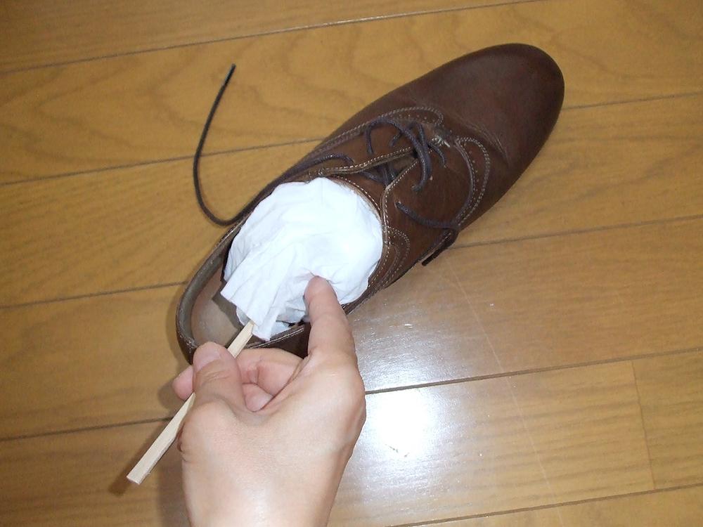 靴洗う 即席シューキーパー
