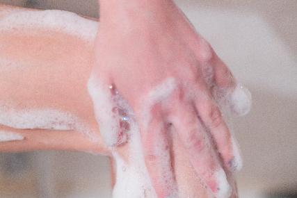 やさしく洗う